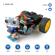 цена на Smart Robot Car Starter Kit for Arduino Ble UNO R3 with Tutorial,Support iOS/Android,Ps2,WiFi IR Control for Arduino Diy Kit