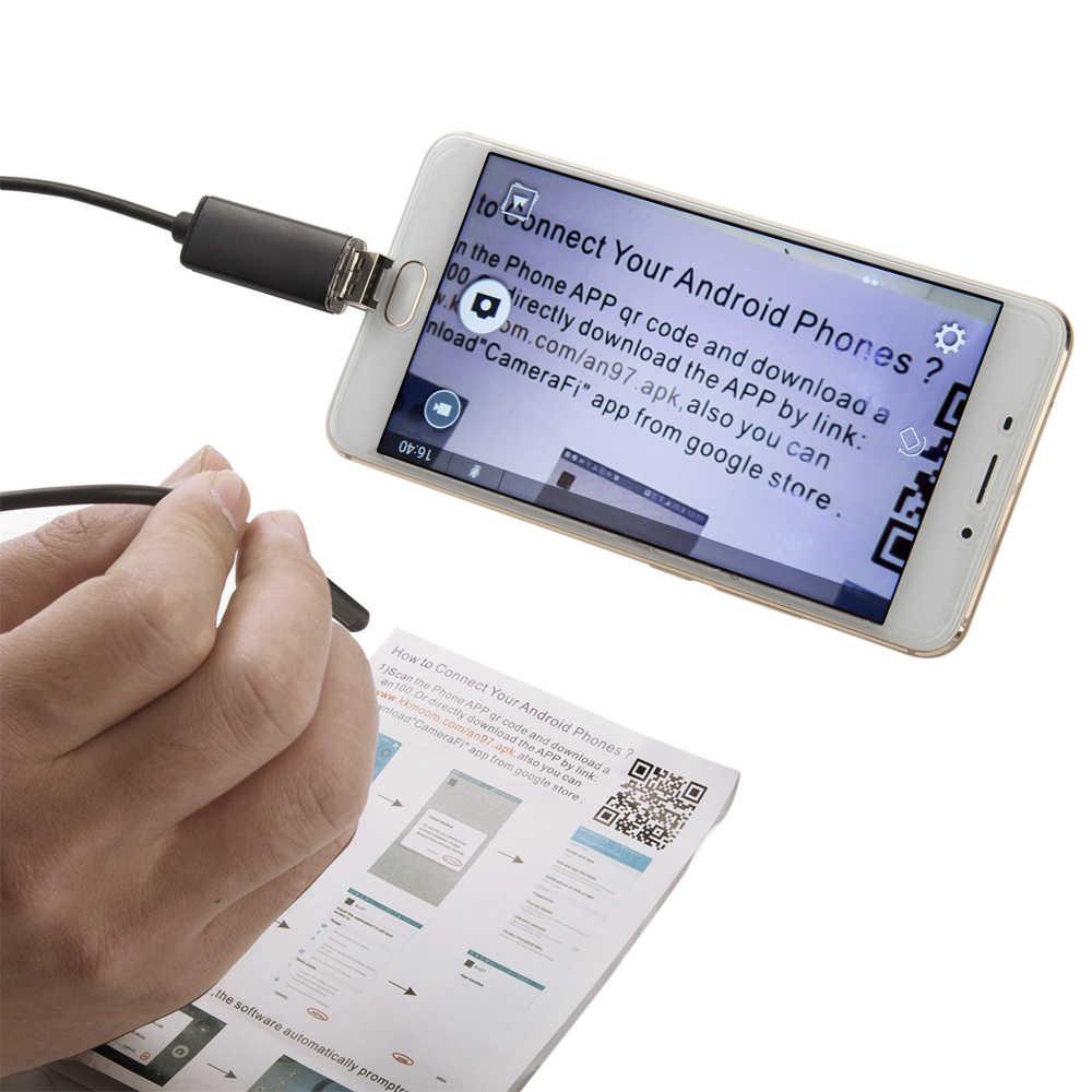 Высокое качество 5,5 MM USB эндоскоп Android камера 1/2/5/10 м гибкая с гибким световодом для обнаружения смартфон OTG эндоскоп камера 6LED