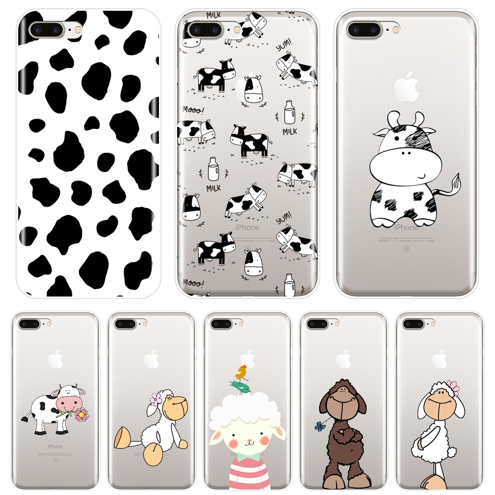 <font><b>Phone</b></font> <font><b>Case</b></font> For <font><b>iPhone</b></font> X XR XS MAX 8 <font><b>7</b></font> 6S 6 S Cow Sheep Animal Goat Cute Silicone Soft Back Cover For <font><b>iPhone</b></font> 8 <font><b>7</b></font> 6S 6 S Plus <font><b>Case</b></font> image