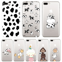 Phone Case For iPhone X XR XS MAX 8 7 6S 6 S Cow Sheep Anima
