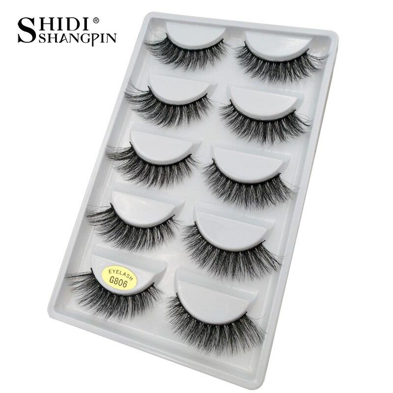 цена SHIDISHANGPIN 20 Boxes Mink Eyelashes Makeup Fake Eyelashes Handmade Strip 3d Volume Eyelash Extension Lashes Wholesale Cilios онлайн в 2017 году