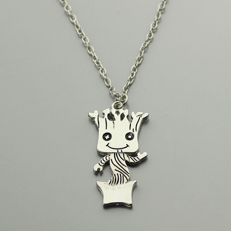 Guardians of the Galaxy Charm Necklace Dancing Baby Pendant for Men Women Jewelry Accessorizes Bead Embroidery Necklace Design