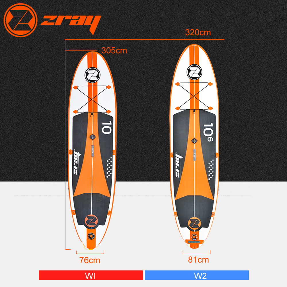 New design Zray W1 W2 inflatable windsurf sup stand up paddle board surfing board drop stitch inflatable stand up paddle boards inflatable surfing board