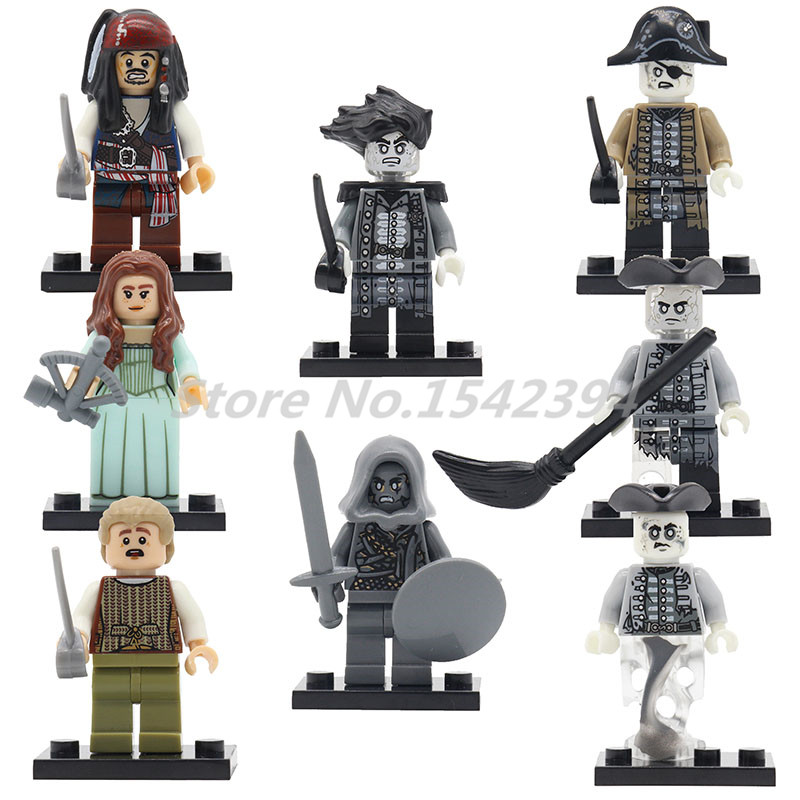 Single Sale Pirates of the Caribbean Super Heroes Building Block Bricks Jack Sparrow Carina Smith Henry Toys For Children kazi 87010 the black pearl ship bricks set sale pirates of the caribbean building blocks toys for children hobby free shipping