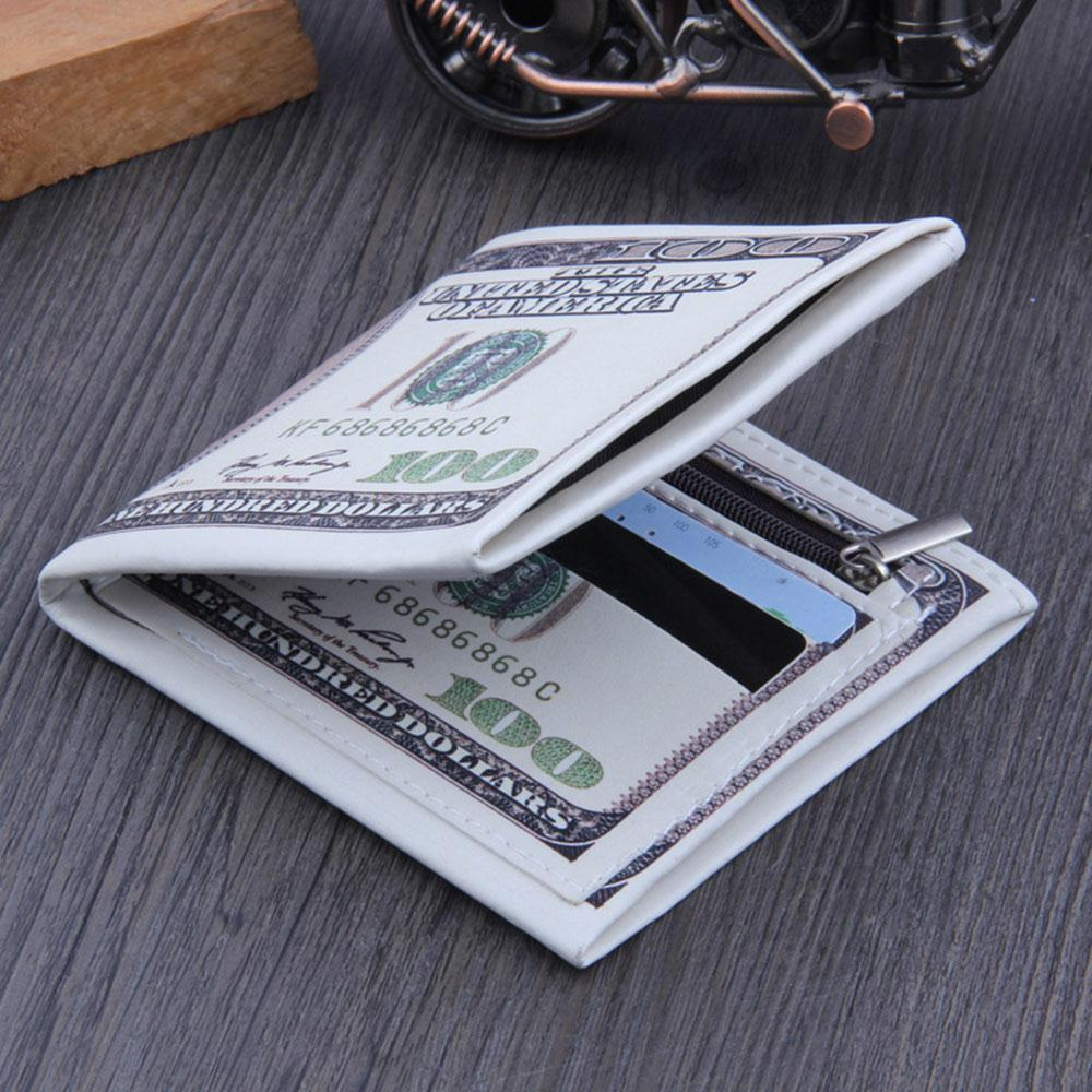 Men Women Bifold Three Options PU Wallet ID Credit Card Storage Holder Purses Fashion Money Clips Dollar Organizer Carteras