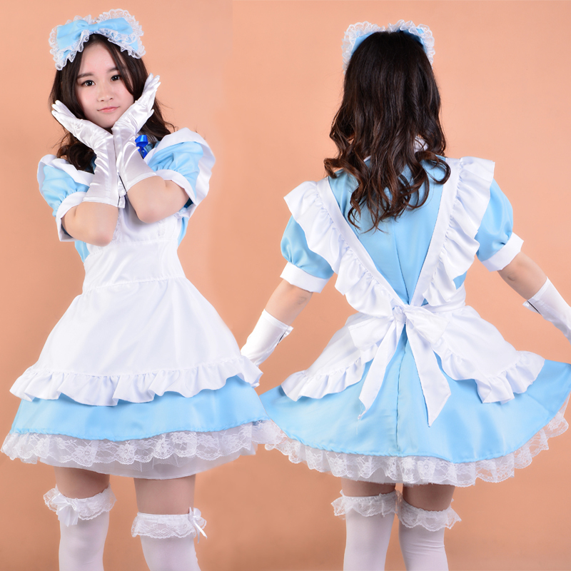 Shanghai Story Anime cosplay costume Implicit confinement tube lolita dress girl maid clothing