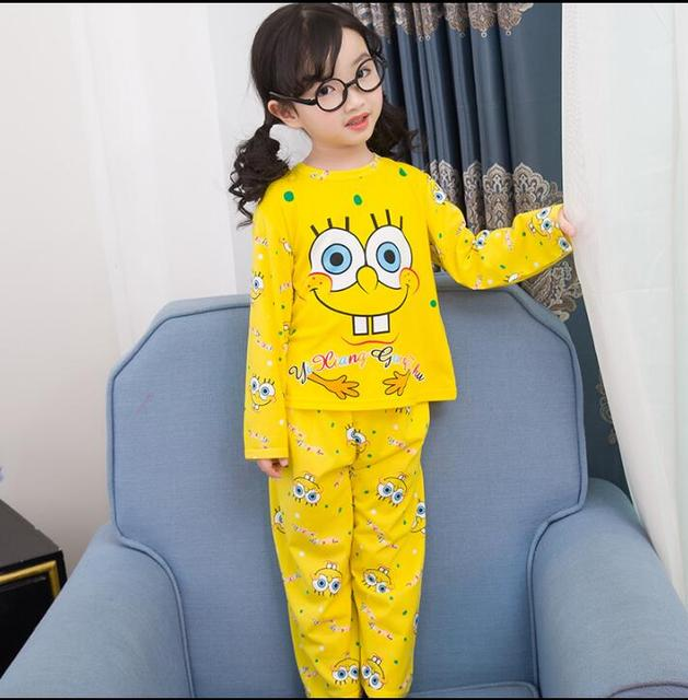 New Listing 2018 Children Clothing Autumn Winter Girls Baby Pajamas Cotton  Boy Nightgown Kids Home Cltoh Girl Sleepwear Set 1ddf783dc