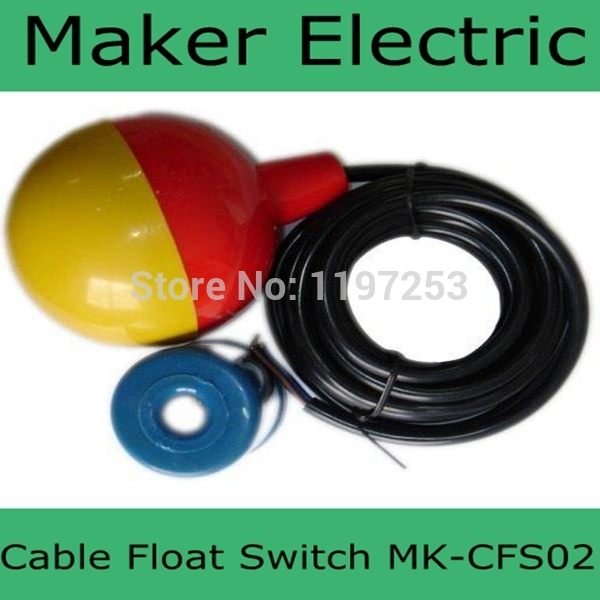 MK-CFS02 3 meter New High Quality Cable Float Switch Liquid Fluid Water Pump Level NO/NC Controller Sensor FREE SHIPPING mj uqk 6 mini submersible pump with float switch small flow high chemical resistance oil tank level switch liquid level sensor