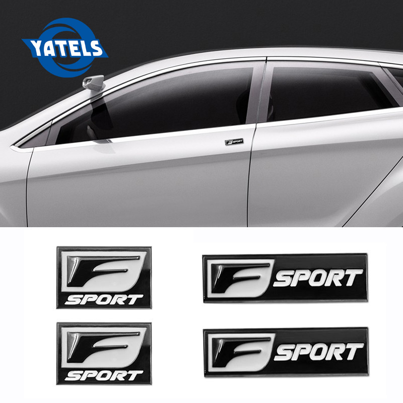 3D Metal Car Sticker Badge Emblem Auto Decal For F SPORT Lexus IS ISF GS RX RX300 RX350 ES IS250 ES350 LX570 CT200 Car Styling