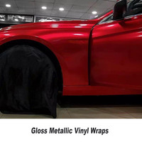 red Gloss Candy Vinyl Car Wrap Styling with Air Free full SHINY RED car Covering FOIL Film SIZE 5ft X 65ft/Roll