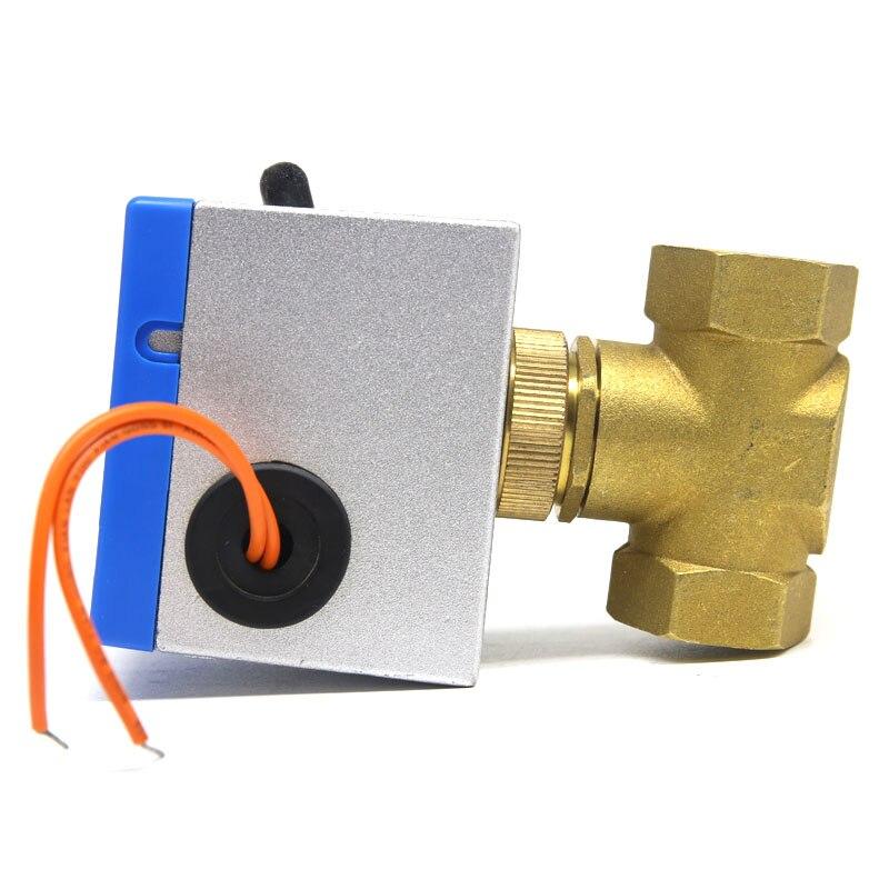 Valvola a sfera elettrica a 3 vie a 3 vie a 3 vie 220 V DN20 G3//4 valvola a sfera motorizzata in ottone con funzione di commutazione manuale