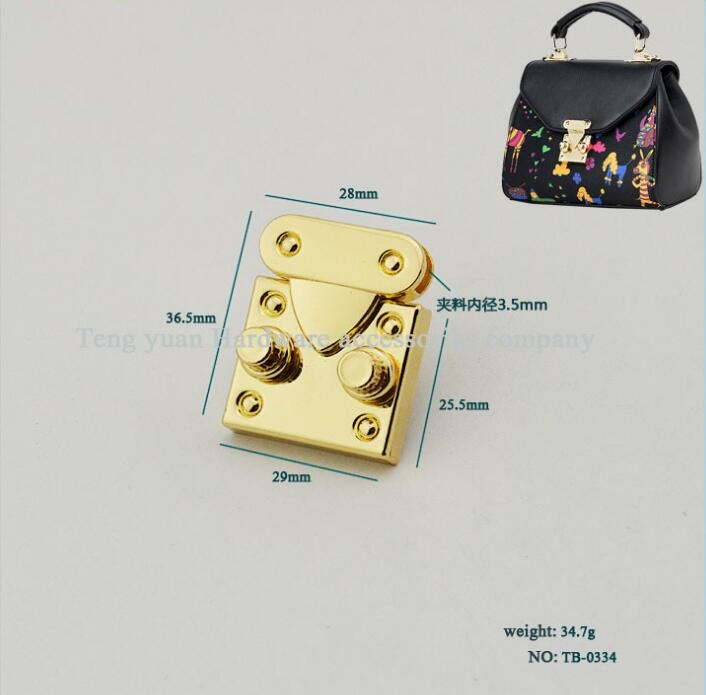(10 PCS/lot) metal plating processing leather handbags fine fashion authority safety latch decorative accessories shivaki stv 48led15