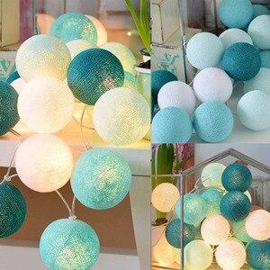 20 светодиодов, хлопковые шаровые гирлянды, AC & Battery, сказочные огни, наружное украшение, праздничная гирлянда, Рождественский Глобус, осветительная цепочка