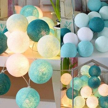 20 LEDs Baumwolle Ball String Lichter AC & Batterie Lichterketten Outdoor Dekoration Urlaub Girlande Weihnachten Globus Beleuchtung Kette