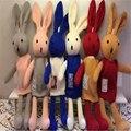 Новое Прибытие 38 СМ Прекрасный Серый Кролик Кукла PP Хлопка Игрушка ткань Куклы с лавандой для Любителей Рождественский Подарок Груза падения Z04