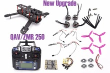 ZMR250 250 250mm Carbon Fiber Frame Kit FS-I6 2204 motor CC3D DYS BLHeli 20A RC for QAV250 For Quadcopter Racing Cross Drone +