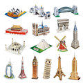 Mini Magic 3D World Architecture Paper Building Models Dducational Toy 23 Styles Drop-Shipping HT3719