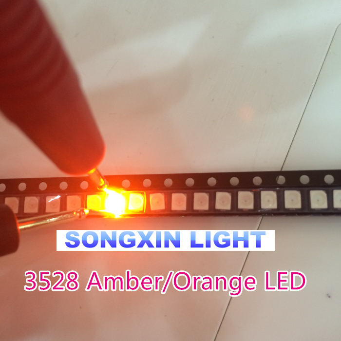 100PCS SMD SMT 1210 3528 LED White Light Emitting Diode PLCC-2 High Quality Chip
