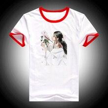 Japanese Ancient Geisha tshirt women harajuku Anime shirt flowers print tee femme summer top female t-shirt streetwear