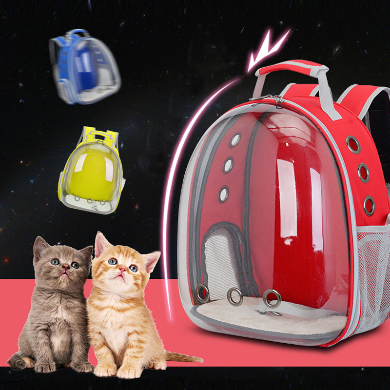 1pc Pet Travel Bag Transparent Pet Backpack Breathable Kitty Puppy Chihuahua Small Dog Cat Shoulder Carrier Crate Outdoor Cave #2