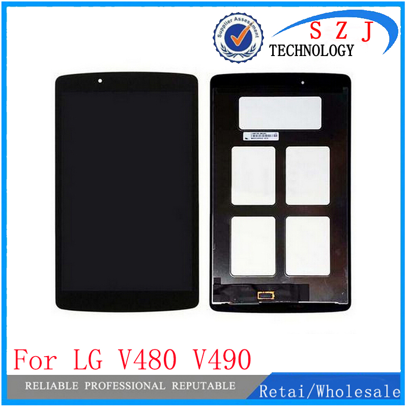 New 8 inch case For LG G Pad 8.0 V480 V490 Tablet LCD Display + Touch Screen Digitizer Assembly Free Shipping black case for lg google nexus 5 d820 d821 lcd display touch screen with digitizer replacement free shipping