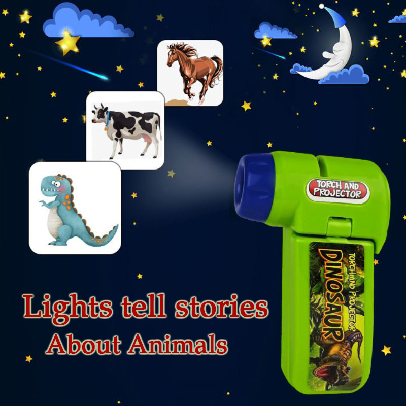Sleeping Story Flashlight New Dinosaur Space Projector Kids Baby Toy