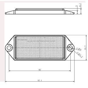 Image 2 - 6 PCS AOHEWE white rectangular reflector  with screw ECE Approval reflect strip for trailer truck lorry bus RV caravan