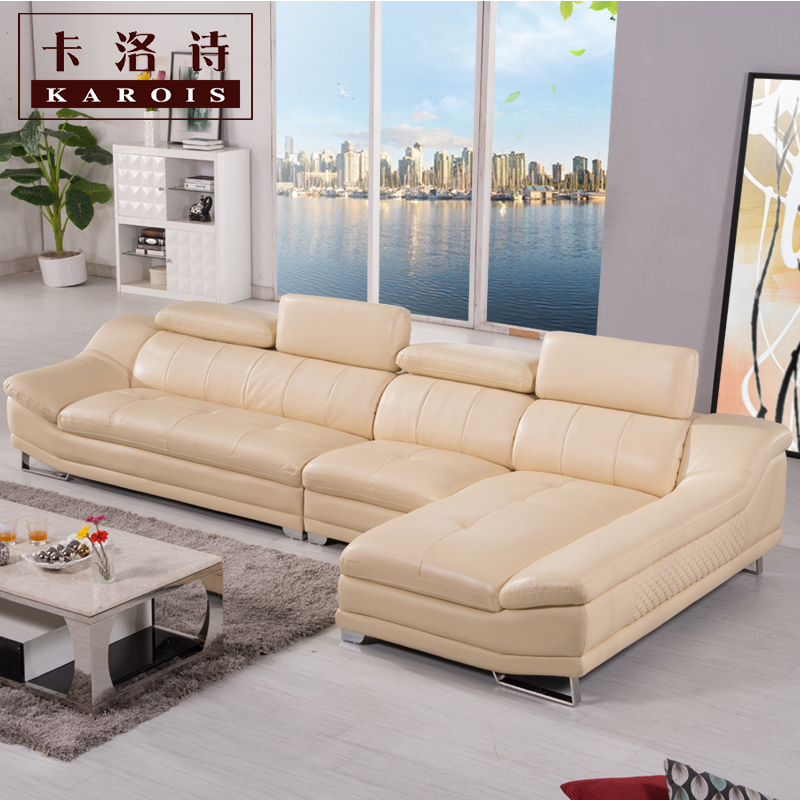 Factory Selling High Quality Genuine Leather Sofa Section Corner Home Furniture Living Room