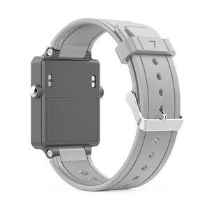 Image 4 - ZENHEO حزام (استيك) ساعة أسورة رياضية من السيليكون حزام الفرقة للغارمين Vivoactive خلات مربط الساعة الاكسسوارات