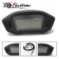 Universal Tachometer ATV Motorcycle LCD Digital Speedometer Odometer KMH Gauge Backlight Motorcycle Odometer For 1 2