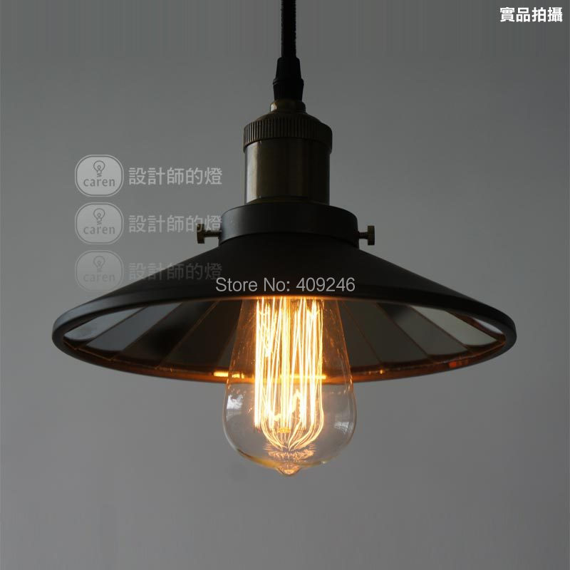 ФОТО 22CM Industrial American Vintage Attached Mirror lamp Edison RH Loft Pendant Lamp Droplight Store Restaurant Hall
