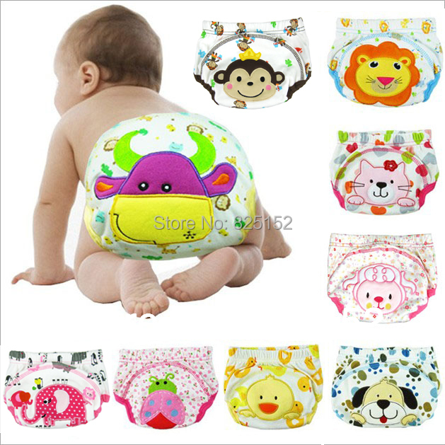 Free shipping 1PCS Baby  boy girl newborn nappy infant toilet pee potty training pants Washable Cloth diaper Underwear Reusable