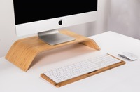 GOOYIYO New Samdi Wood Bluetooth Magic Keyboard Stand Bamboo Wooden Holder for Apple 2017 Magic Keyboard with Numeric Keypad