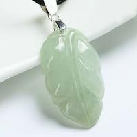 Doğal Bir Sınıf Jadeite Açık Yeşil Yaprak Kolye, Mevcut için Fit, Ücretsiz kargo.