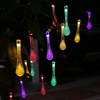 Hot water 6M 30 led solar lamp series of waterproof outdoor Christmas holiday lawn color lights