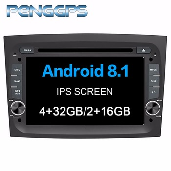 Octa Core 4G+32G DVD Player 2 Din Android 8.0 Car Radio for FIAT DOBLO 2016 2017 2018 GPS Navigation 7 Inch IPS Screen Headunit