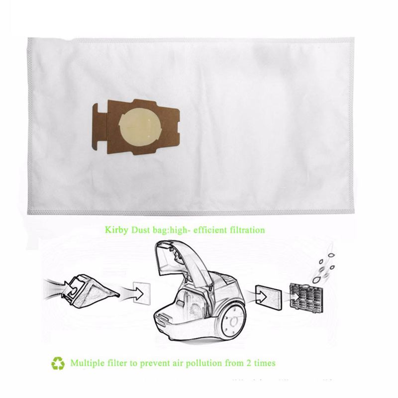 Dust Bag Vacuum Cleaner Part For Kirby Sentria 204808/204811 Universal F/T Series G10,G10E Dustbags For KIRBY Sentrial,12pcs