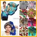 Frete grátis! venda quente cetim quadrado grande lenço de seda, 90*90 cm, belas flores de cor para as mulheres ST101-120 SC0271