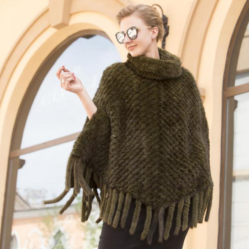 Long Sleeveless Fur Shawl For Female Mink Fur Shawl In The New Winter Mink Knitted Fur Coat In 2019