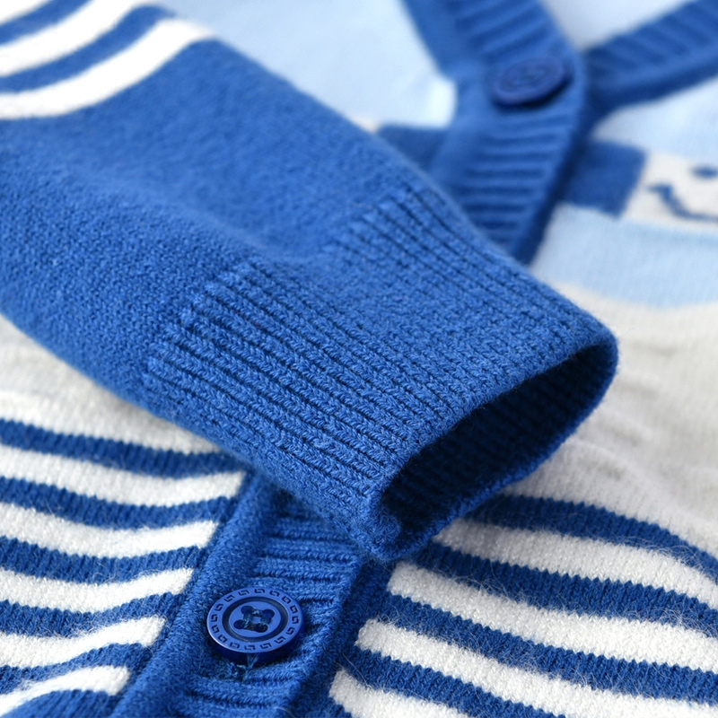Casual-Baby-Sweater-For-Boys-Girls-V-Neck-Long-Sleeve-Infant-Sweater-Striped-Cotton-Knit-Cardigan-Spring-Autumn-Oudoor-Cardigan-5