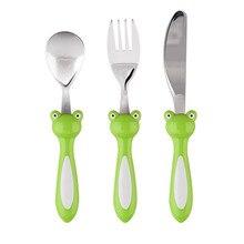 Kinder Schöne Peter Besteck Sets 304 Edelstahl Hochglanzpoliert Messer Löffel und Gabel Set Kinder Tragbare Günstige Kitchen Tools
