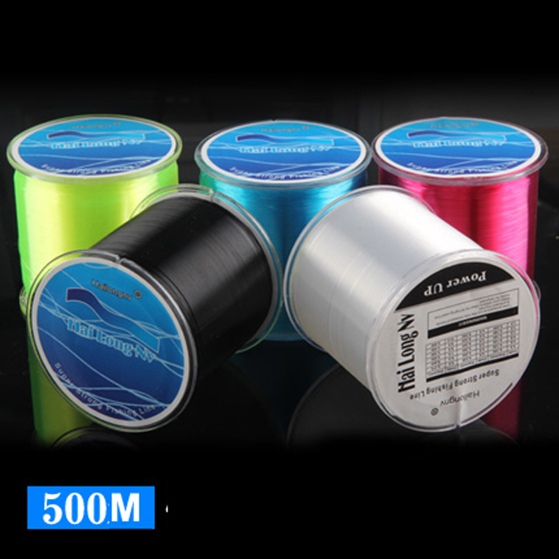 New 500 M Nylon Fishing Line Counter Vsdraad Fluorocarbon linha monofilamento Monofilament Custom Spool daiwa okuma abu agrcia
