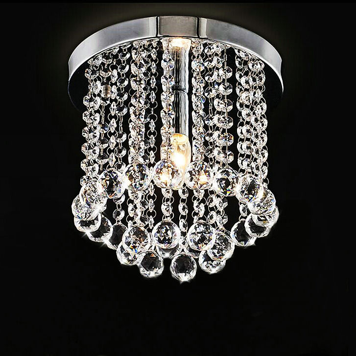 Low Price High Quality K9 Crystal Ceiling Light Aisle Living Room Bed Lamp Study Lighting Fixture 110V 220V E14