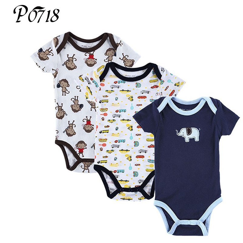 3 Pieces/Lot Baby Girl Boy Short Sleeve Romper 2018 New Cotton Cartoon Summer Baby Born Clothing for Newborn One-Pieces Rompers glasgow k girl in pieces