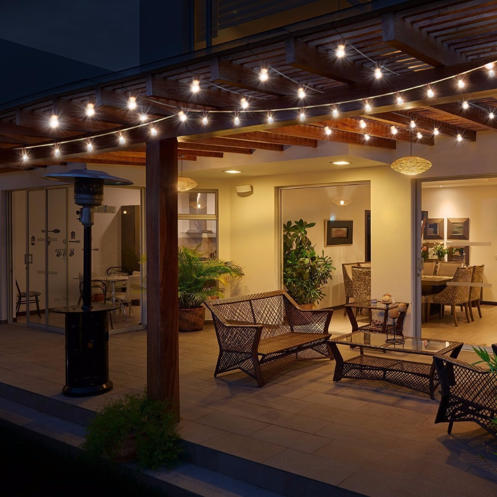 1x Indoor/Outdoor Lights G40 Globe String Lights For Porch