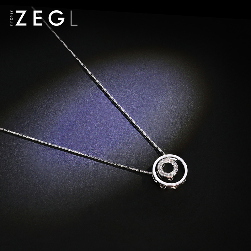 ZEGL 925 sterling silver chain initial necklace star choker pendant to send girlfriends i love you simple necklaceZEGL 925 sterling silver chain initial necklace star choker pendant to send girlfriends i love you simple necklace