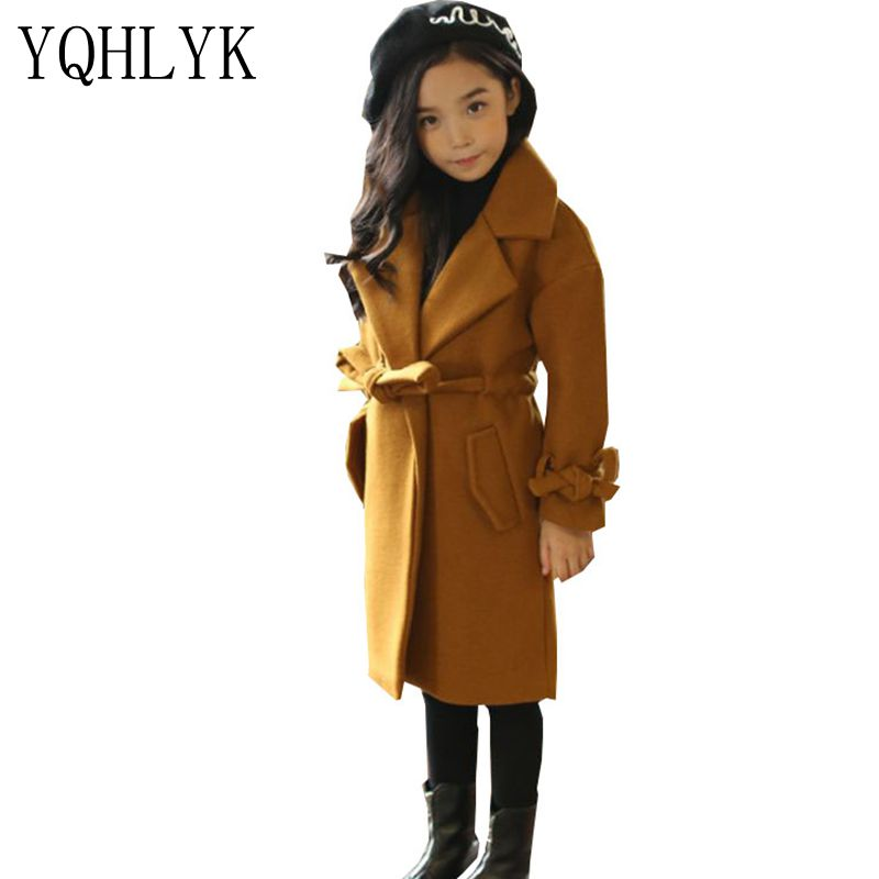 New Fashion Autumn Winter Girls Coat 2017 Korean Children Thick Sweet Woolen Overcoat Elegant Generous Kids Clothes 4-13Y W59 buff бандана buff frozen child polar buff one size olaf blue navy