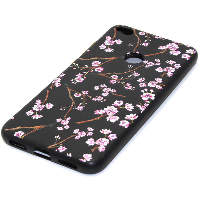 3D Relief flower silicone case huawei p8 lite 2017 honor 8 lite (31)