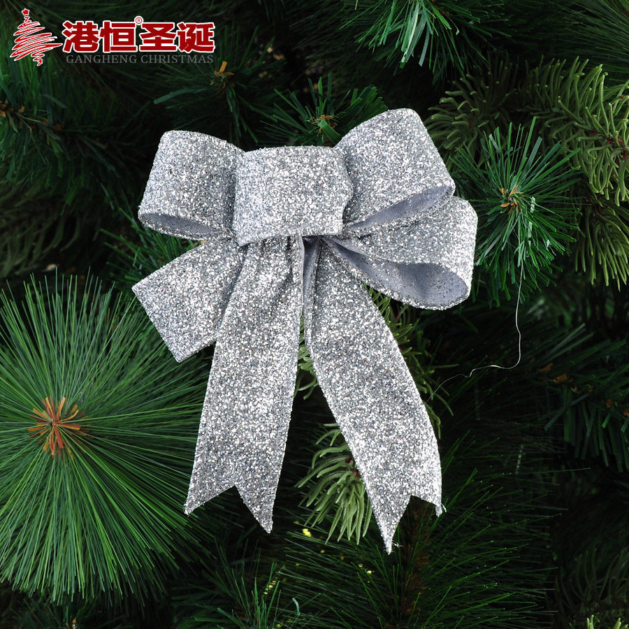 Christmas Tree Bows Decorations: Silver Christmas Tree Decorations Bows
