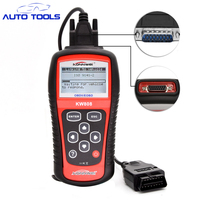10 stks/partij Hot Koop OBD2 Scanner KW808 Auto Diagnostische Code Reader KAN Motor Reset Tool Auto Scanner Dekking (ons Aziatische & europa)
